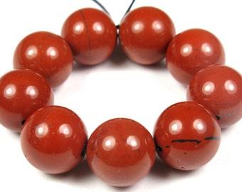 GREAT BARGAIN - originally 10.99 - Red Jasper Round Bead - 12mm - 10 Beads - B3979