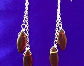 Red, Silver, and Light Touch Dangles- Charity Proceeds