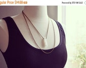 VALENTINES DAY SALE White Crackle Quartz Pendulum Bronze Chain Necklace