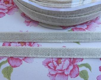 Natural Cotton Ribbon 5 yds
