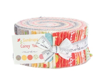 Sundrops cotton jelly roll fabric by Corey Yoder for Moda fabric