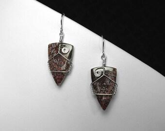 Utah Dinosaur Bone Earrings in Silver