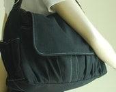 NEW YEAR SALE 30% - Pico in Black (Water Resistant) Purse / Laptop / Shoulder bag / Messenger Bag / Women / Handbag / Wallet / Diaper Bag /