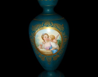 Hand Painted German Porcelain Vase
