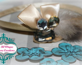 BoWdaCiOuS {Caramel Brown} Feather Headband