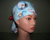 Frosty Christmas Ponytail scrub cap