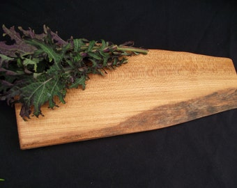 Natural Rustic Wood serving  Board, OOAK, reclaimed unique serving tray Bigleaf Maple, petite