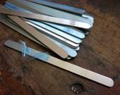 "Aluminum Bracelet Blanks, 3/8""x6"", Metal Cuff Bracelet, 14G Aluminum Stamping Blanks, Cuff Blanks, Choose 4 to 20"