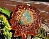 Plasma Agate Third Eye Pinecone Pendant