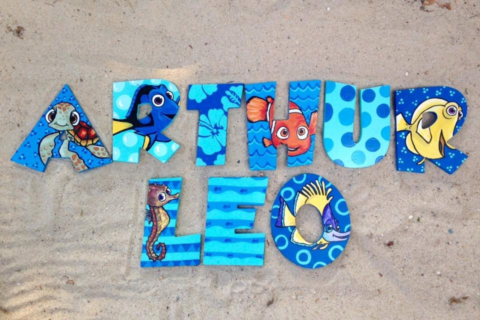 Hand Painted 6 Finding Dory Or Nemo Letters