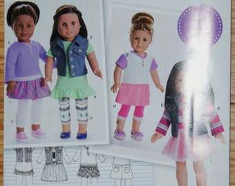 New Simplicity Ameiican Girl 18' doll Clothes Pattern S0173 same as 8041 OS