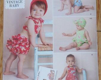 New Simplicity Vintage Baby Infants Dress pattern 1600a size xxs - l