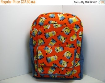 On Sale Minions In Orange & Blue Preschool Backpack