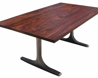 Bergen Dining Table With a Solid Walnut Top