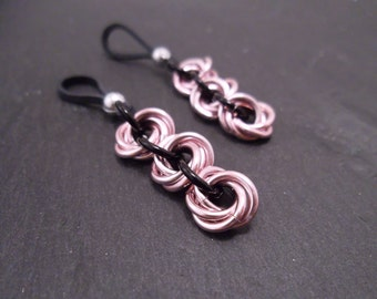Flower Nipple Jewelry, Nipple Jewelry Non Piercing, Chainmail Mobius Roses, Lingerie, Valentines Day Gift, Nipple Nooses