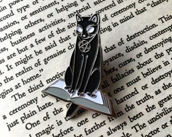Häxa Witch Black Cat Occult Soft Enamel Pin