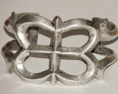 Vintage Navajo Sandcast Sterling Silver Cuff Bracelet - Circa 1940's - 59.7 grams