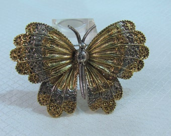ART Gold and Silver Butterfly Brooch