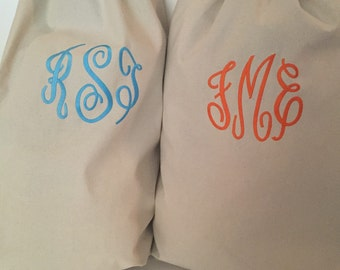 Monogrammed Cotton Laundry Bag