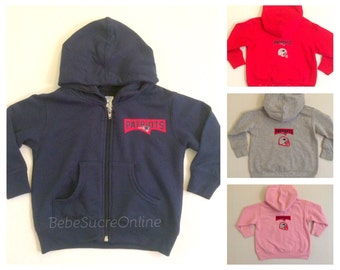 New England Patriots Zip Up Fleece Hoodie - Baby and Toddler Sizes