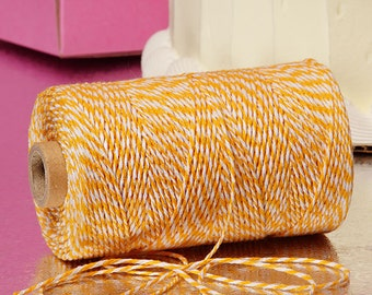 Daffodil & White Duo 4-ply 100% Cotton Baker's Twine (Free Shipping!)