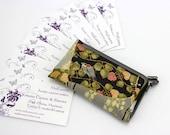 Classic Card Cases, Kimono Card Holder, Fabric Card Wallet, Birds