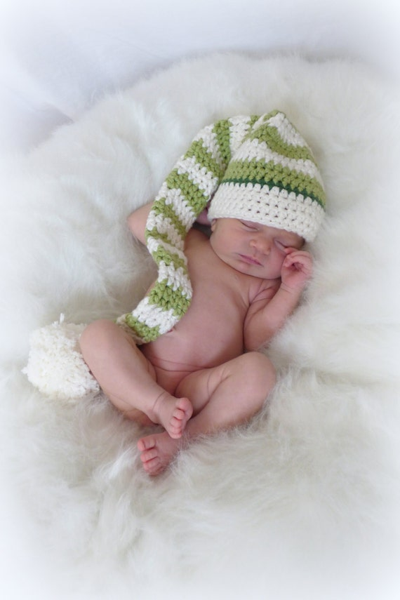 Crochet Diaper Cover Pattern and Hat Pattern Newborn Photo