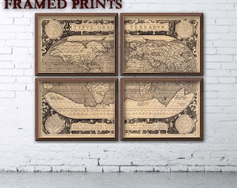 Worksheet. Vintage map of the world 30 x 465 Print on