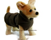 Brown Fleece Coat for Dog - The Downtown Brown Burrito Wrap™- Insulates Your Dog From  Cold Weather Lined Dog Coat for Winter -  Extra Warm