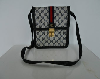 Gucci monogram canvas purse vintage 1970s