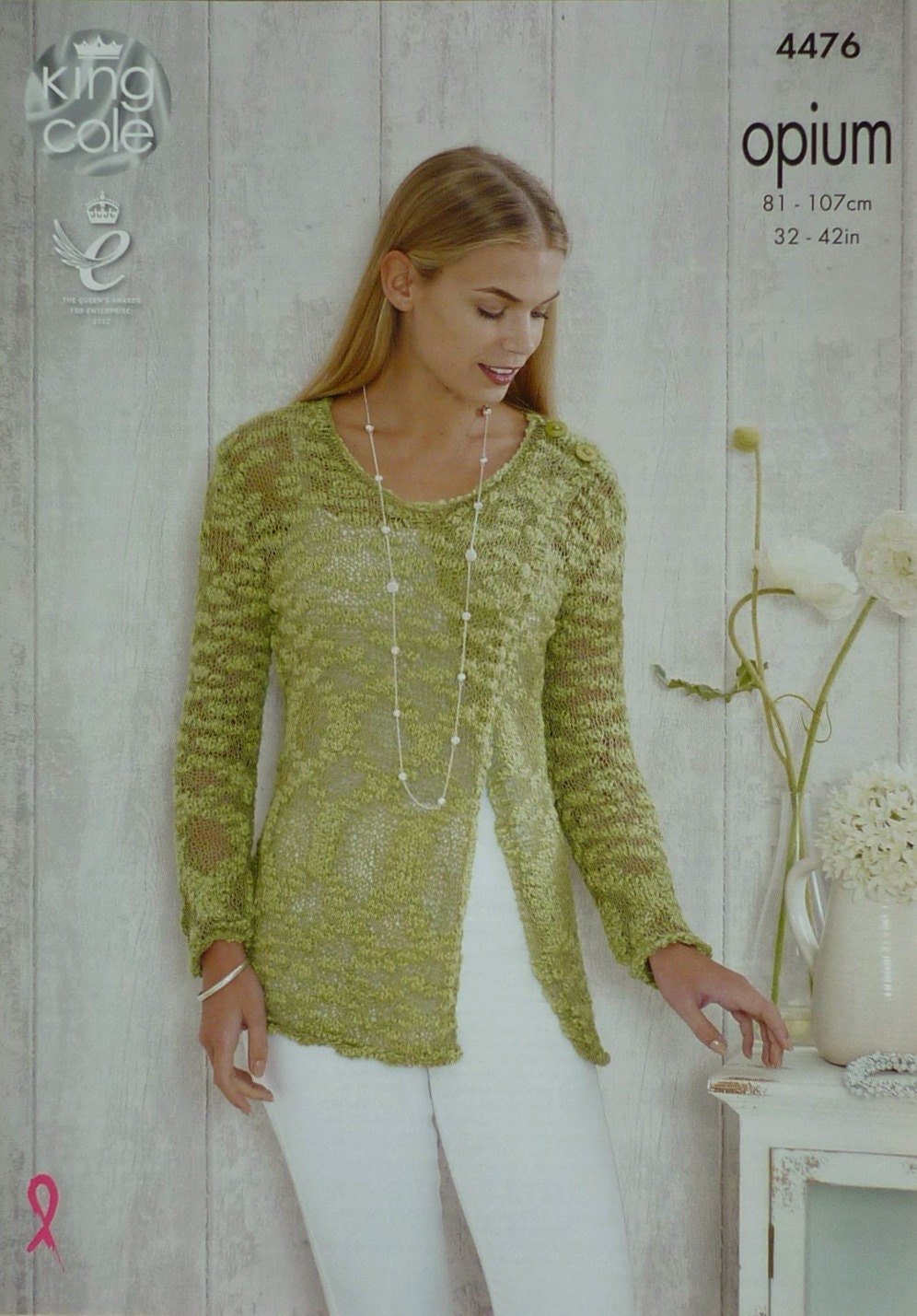 Knitting Pattern Ladies V Neck Jumper : Womens Knitting Pattern K4476 Ladies Long Sleeve V-Neck Wrap Jumper Knitting ...