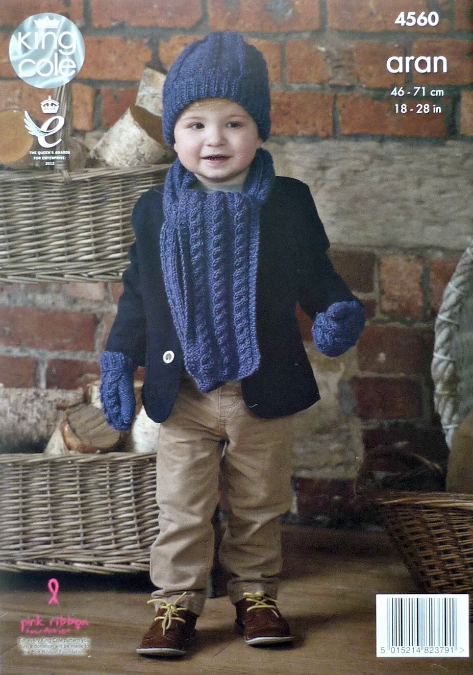 Boys knitting pattern k4560 childrens cable hat scarf and mittens sold by knittingpatterns4u bankloansurffo Gallery