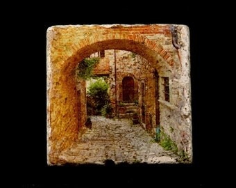 Coaster/Trivet - Arch and Lane in Tuscany