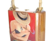 Holiday Gift. Cigar Box  Purse w/ beautiful Artwork .  Five  Artwork to Choose. 100% Handmade