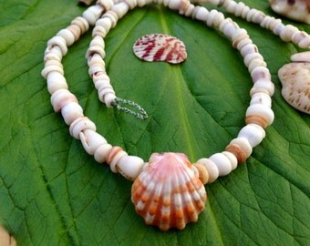 Sunrise Shell Puka Shell Lei Kauai Hawaii Shells Beach Jewelry Eco-Friendly Collected Rare Shells Island Mermaid Style Aloha Gift Reef Gems