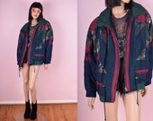 90s Puffy Patchwork Jacket