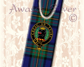 High quality metal bookmark with MacLaren Clan Tartan and  Clan badge. Metal bookmark with high quality printed original images.