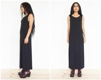 90s DKNY Minimal Black Tank Dress