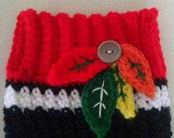 Crocheted Chicago Blackhawks Boot Cuffs