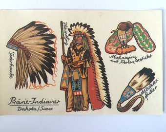 Vintage Germany Decals Planet-Verlag Indian Native American Dakota Sioux 1986