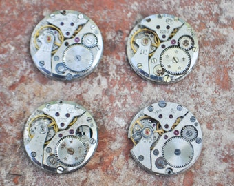 0.8 inch Set of 4 vintage watch movements.