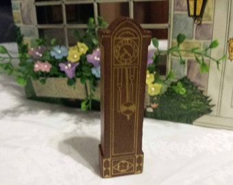 Strombecker grandfather Clock Wood  Furniture Doll House Toy Rare 1934
