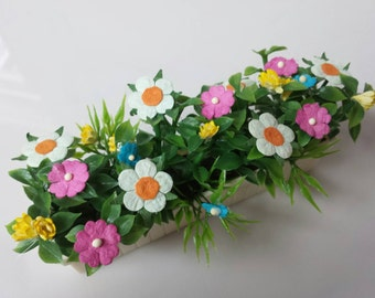 Window box Flower Planter  Toy Dollhouse Traditional Style