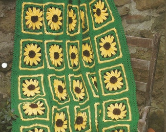 The Needlecraft Shop Country at Heart Brown-Eyed Susans Afghan Collector's Series Pattern