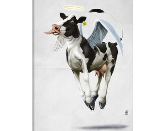 iCanvas Holy Cow II Gallery Wrapped Canvas Art Print by Rob Snow