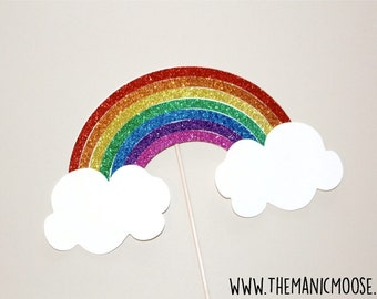Over The Rainbow Photo Booth Props - Large GLITTER Rainbow Prop