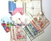 Lot of 9 Vintage Handkerchiefs, Some from Switzerland