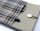SALE - iPad Air case, iPad cover, iPad sleeve with 2 pockets, PADDED - Checks (33)