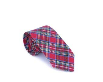 Red Tartan Neck Tie