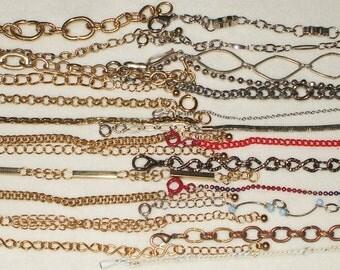 25 VINTAGE wearable chain bracelets